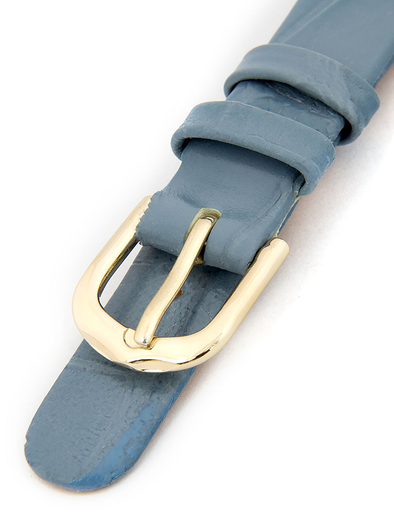 Dámský kožený světle modrý řemínek k hodinkám W-414-A