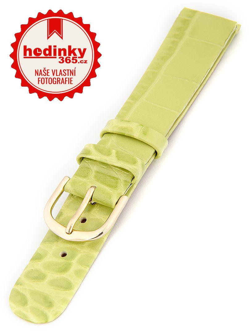 Dámský kožený světle zelený řemínek W-414-C 16 mm