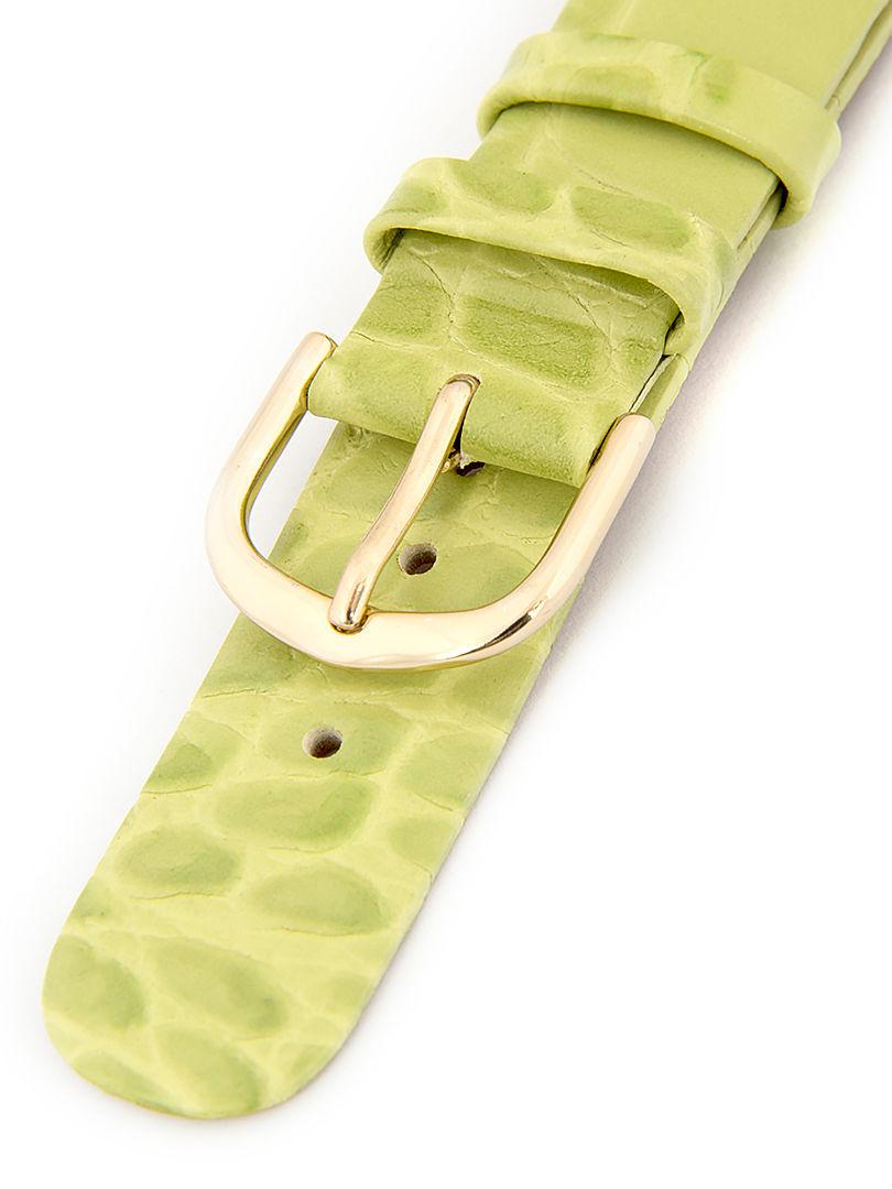Dámský kožený světle zelený řemínek k hodinkám W-414-C