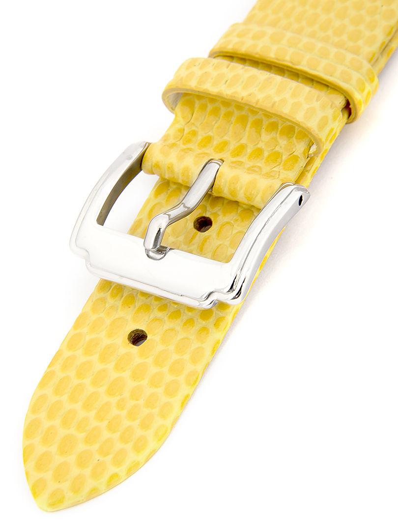 Dámský kožený žlutý řemínek k hodinkám HYP-02-YOLK 18 mm