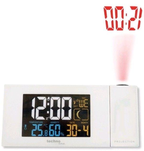 Digitální budík s projekcí a měřením vnitřní teploty a vlhkosti WT 537