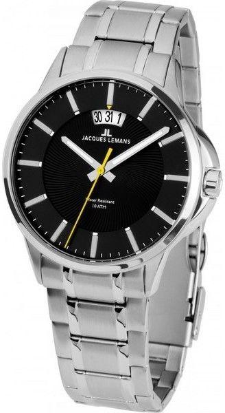 Jacques Lemans 1-1540D. Pánské hodinky - ocelový řemínek 7a62409f75