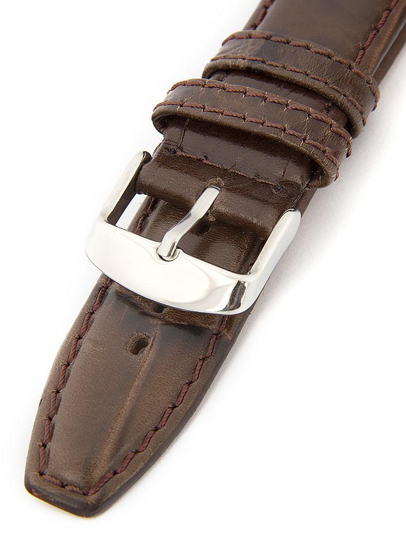 Pánský kožený hnědý řemínek k hodinkám M-8-B1