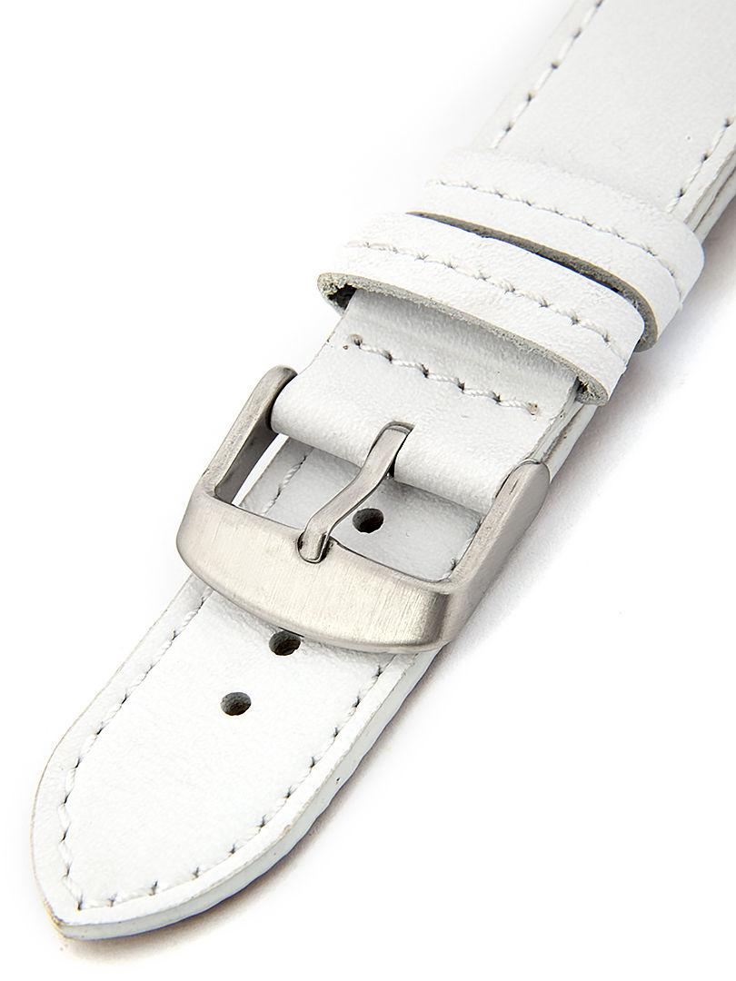 Unisex kožený bílý řemínek k hodinkám BH-5-B