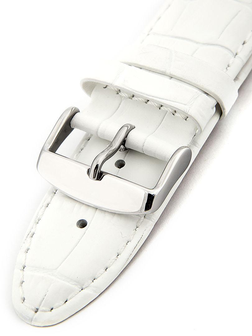 Unisex kožený bílý řemínek k hodinkám HYP-01-WHITE