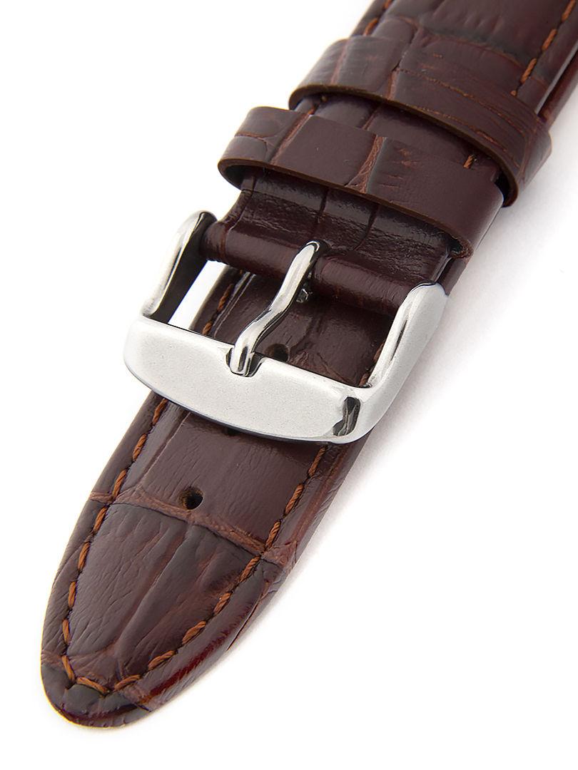 Unisex kožený hnědý řemínek k hodinkám HYP-01-BROWN