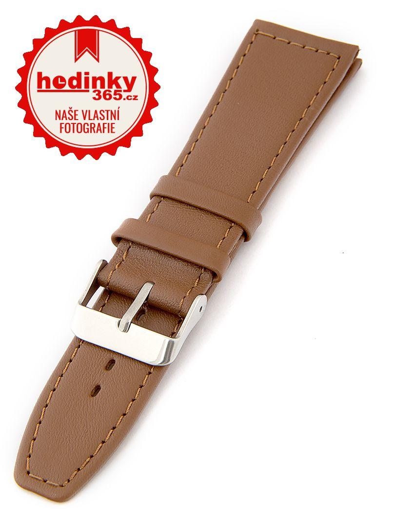 Dámský kožený hnědý řemínek k hodinkám W-309-G