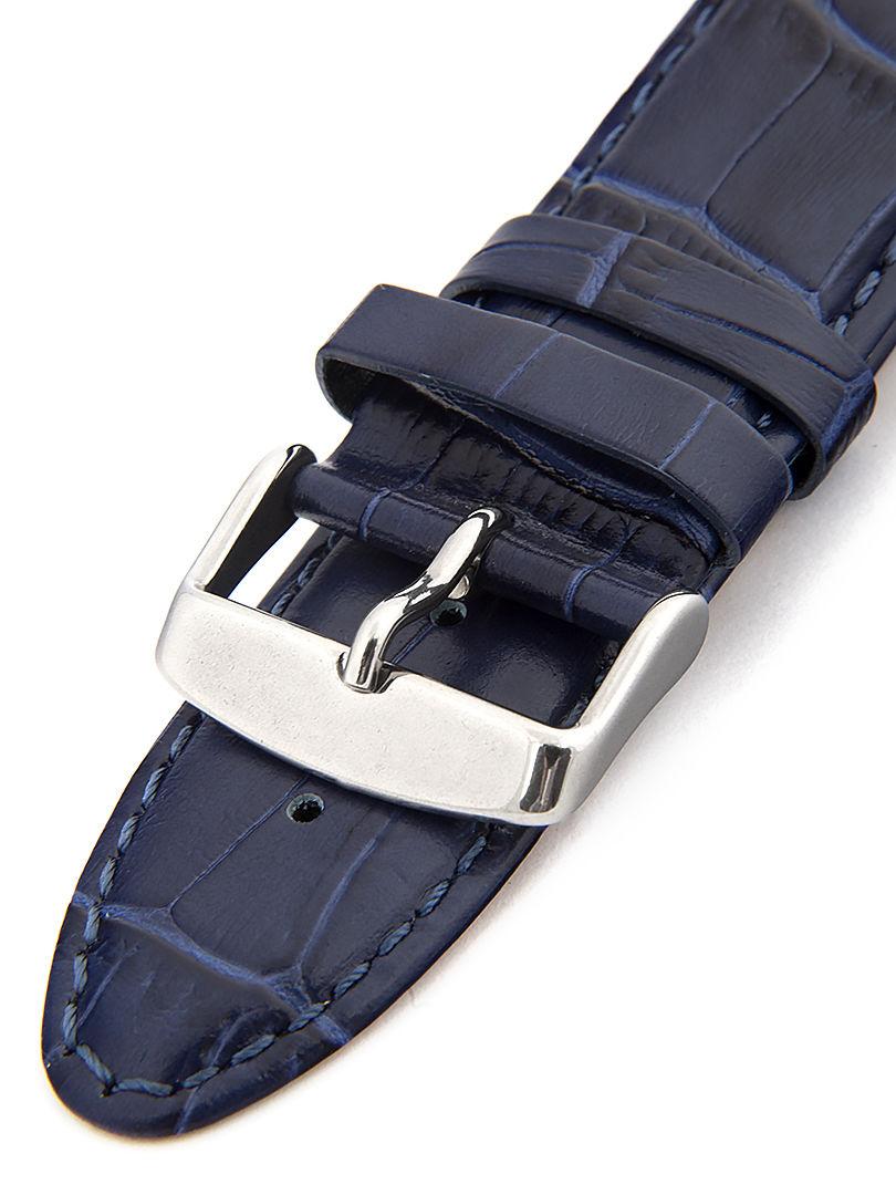 Unisex kožený modrý řemínek k hodinkám HYP-01-ROYAL