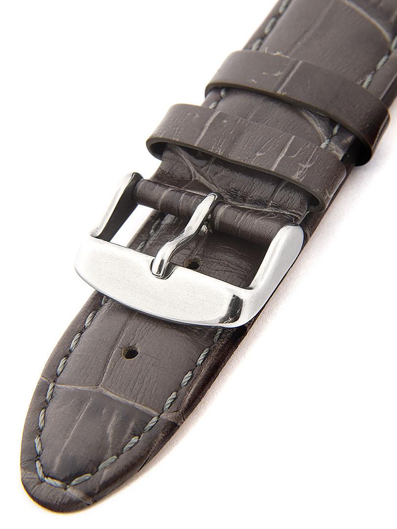 Unisex kožený šedý řemínek k hodinkám HYP-01-GREY