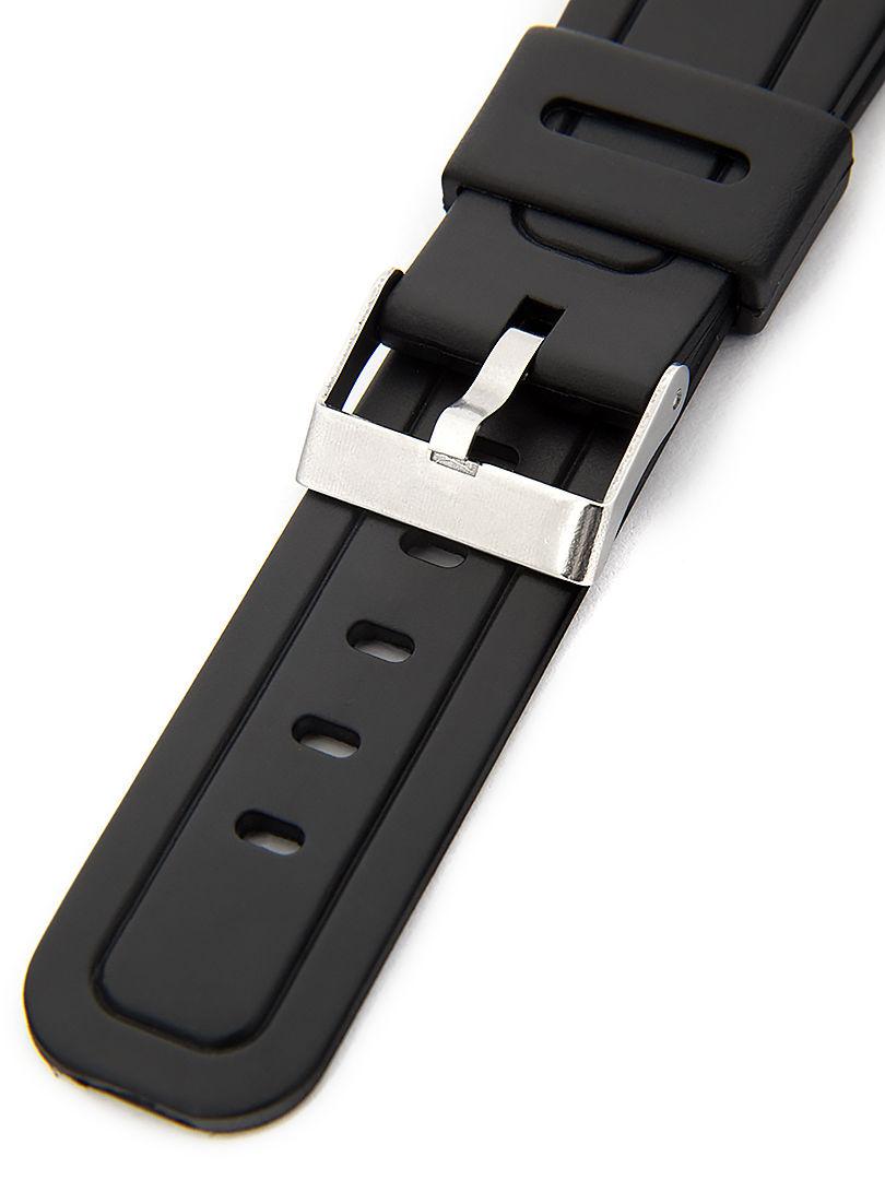 Unisex plastový černý řemínek k hodinkám P040