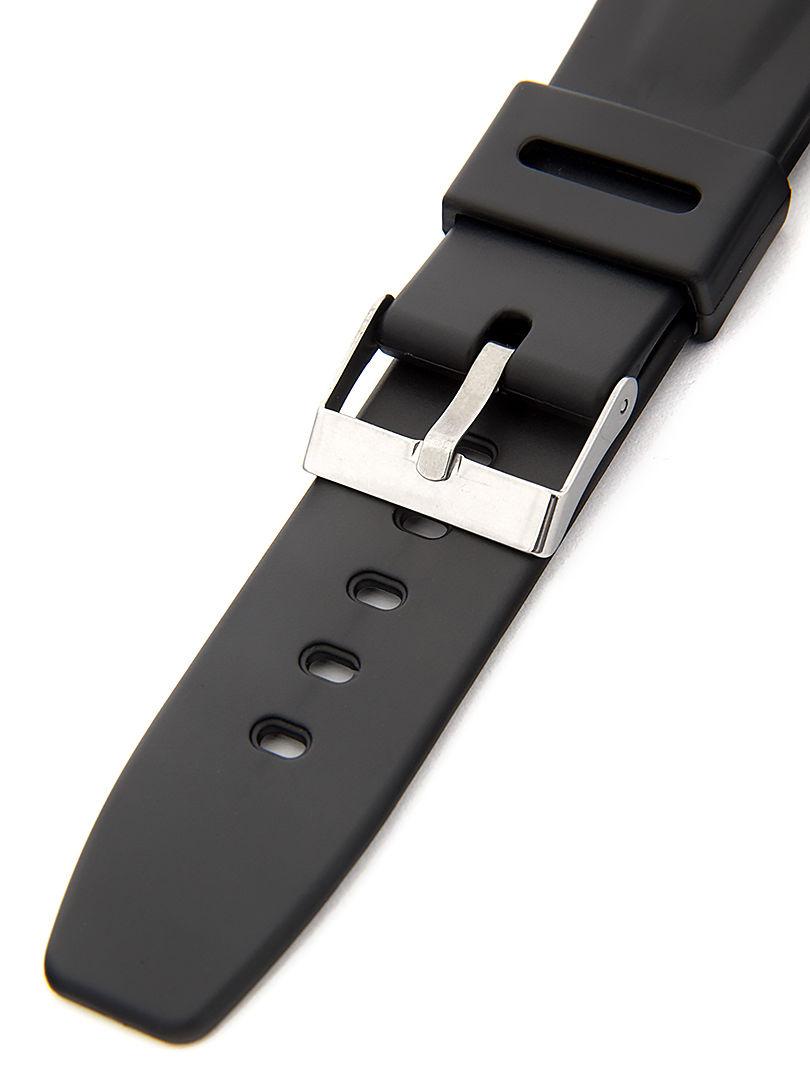 Unisex plastový černý řemínek k hodinkám P073