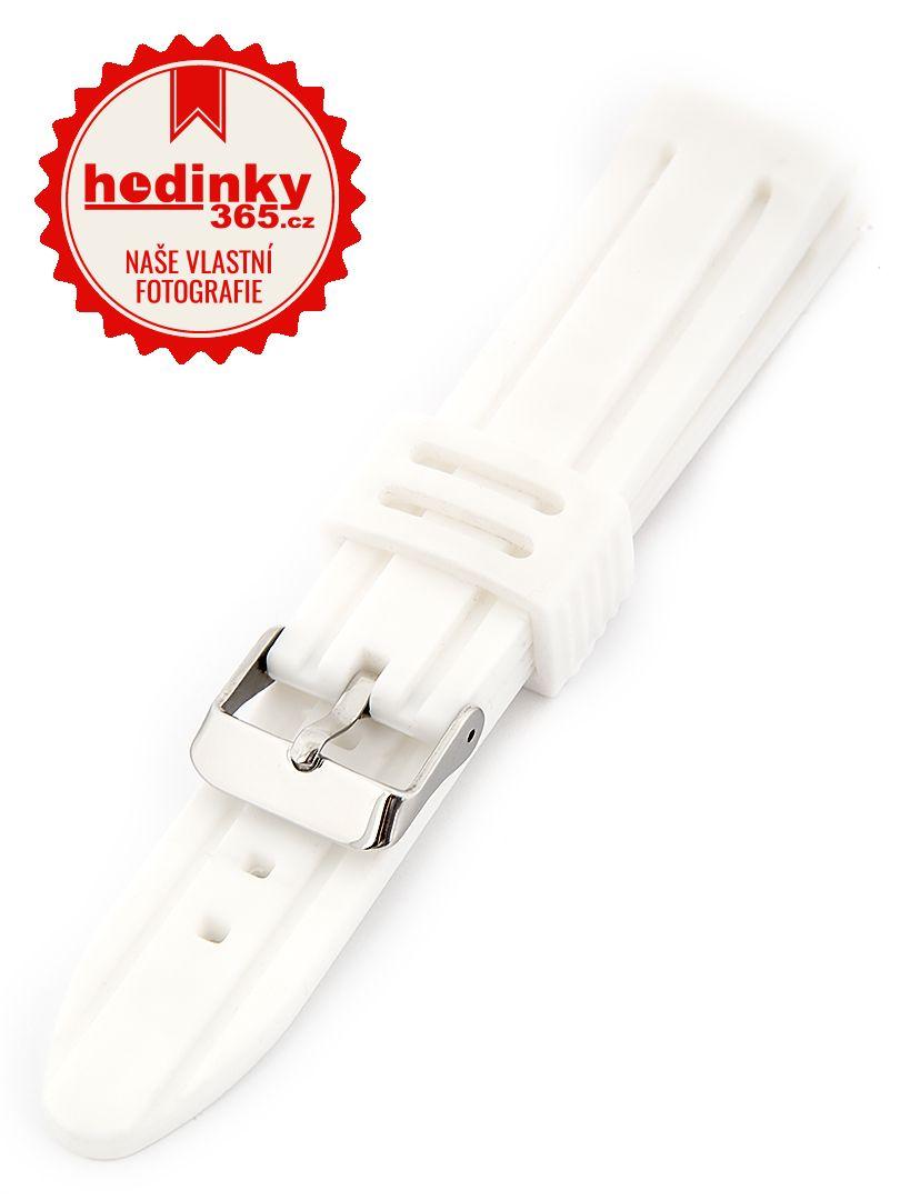 Unisex silikonový bílý řemínek SC-01B