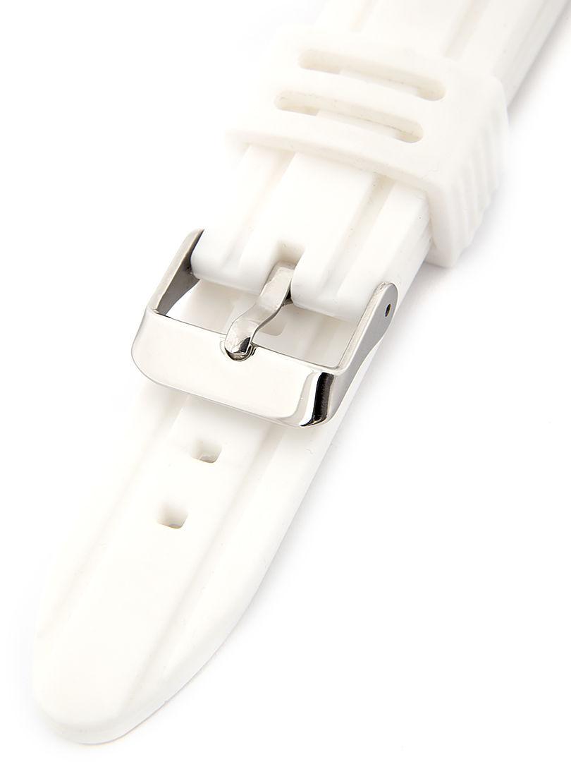 Unisex silikonový bílý řemínek k hodinkám SC-01B 20 mm