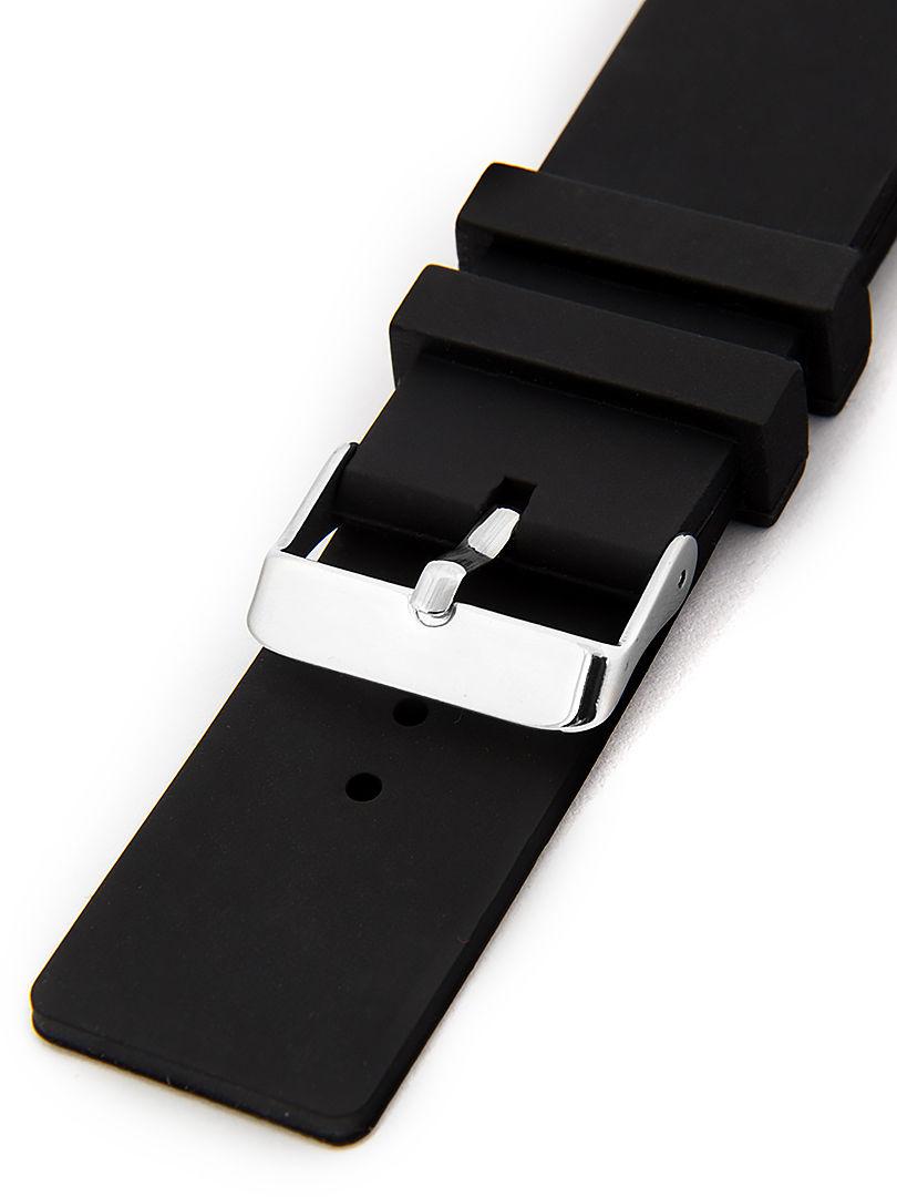 Unisex silikonový černý řemínek k hodinkám SC-04A 16 mm