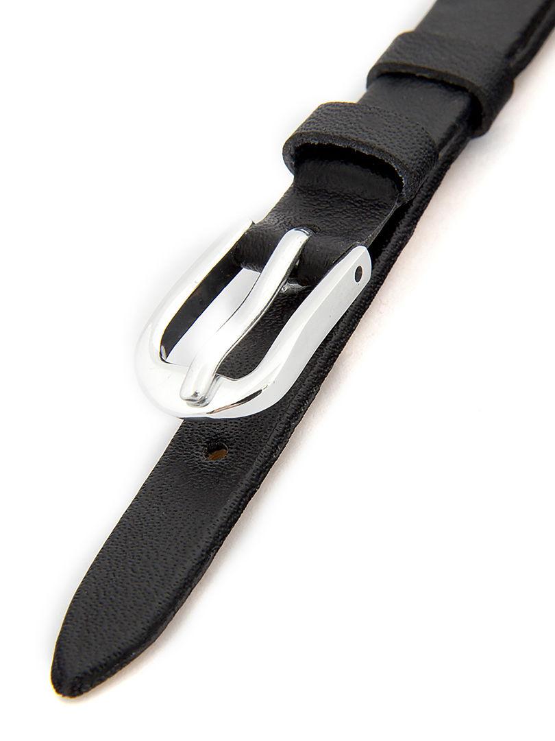 Dámský kožený černý řemínek k hodinkám R3-BK5