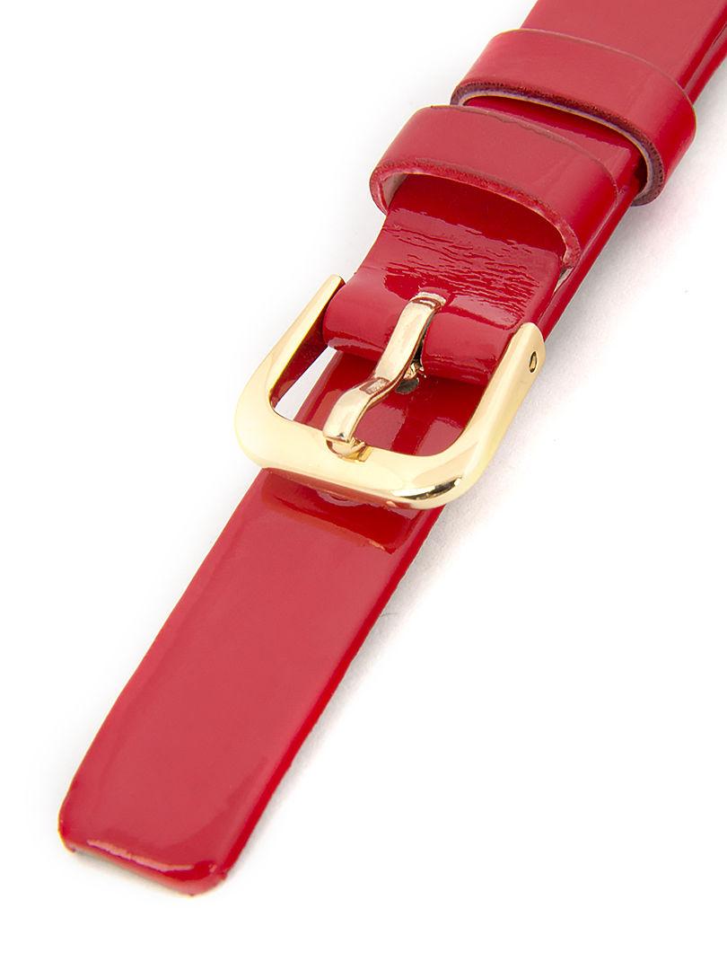 Dámský kožený červený řemínek k hodinkám R-RE3