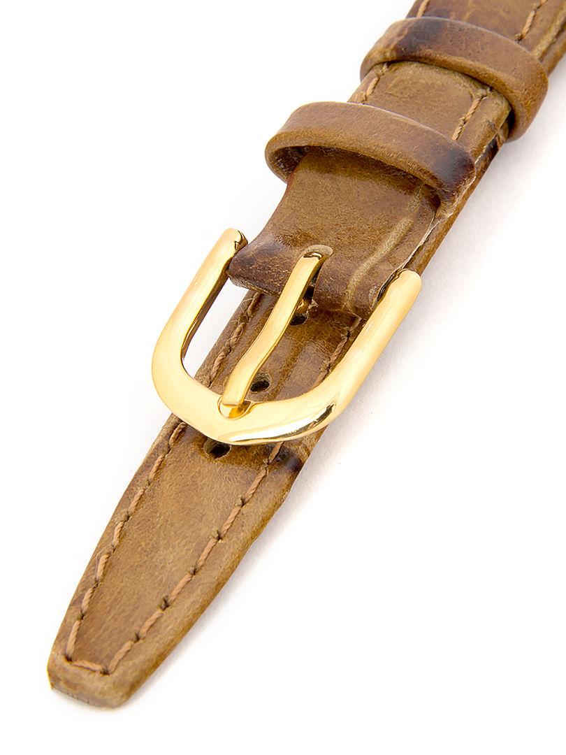 Dámský kožený hnědý řemínek k hodinkám A-91 12 mm