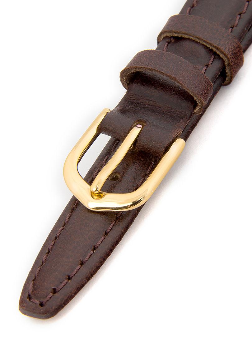 Dámský kožený hnědý řemínek k hodinkám K-5-B