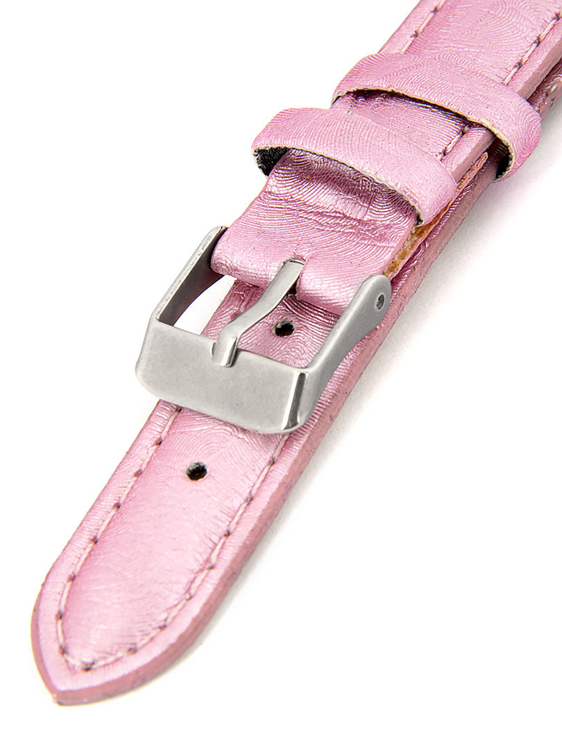 Dámský kožený růžový řemínek k hodinkám R1-PI3