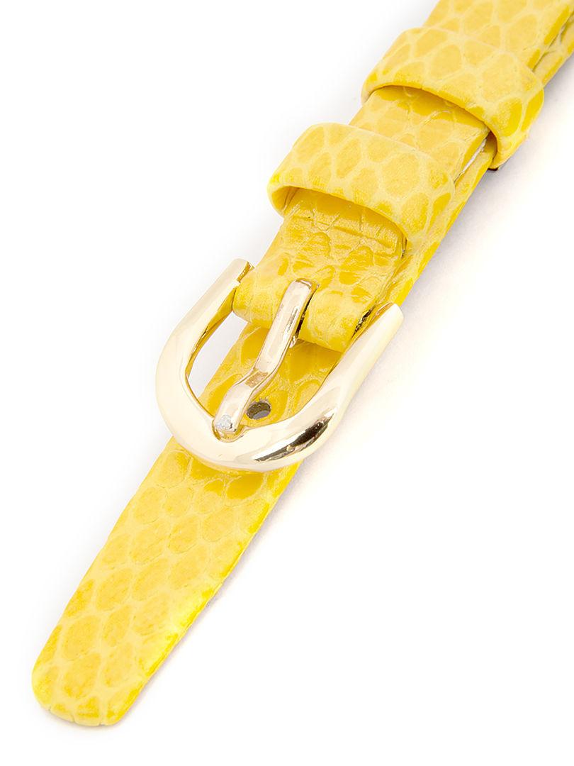 Dámský kožený žlutý řemínek k hodinkám R1-YL1