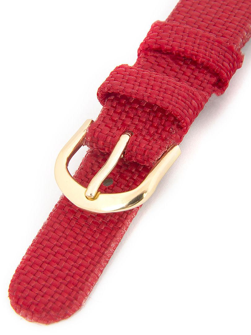 Dětský koženkový červený řemínek k hodinkám R-RE1