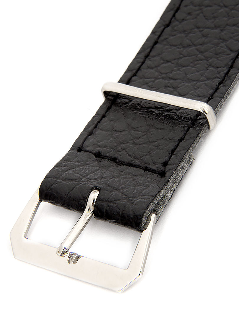 Unisex koženkový černý řemínek k hodinkám R4-BK4