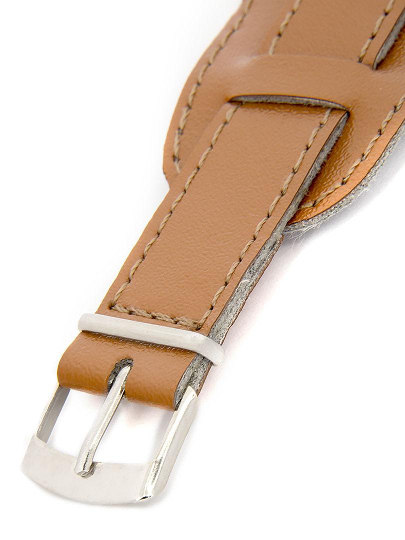 Unisex koženkový světle hnědý řemínek k hodinkám R4-LBR1