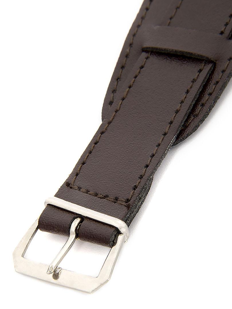 Unisex koženkový tmavě hnědý řemínek k hodinkám R4-DBR1