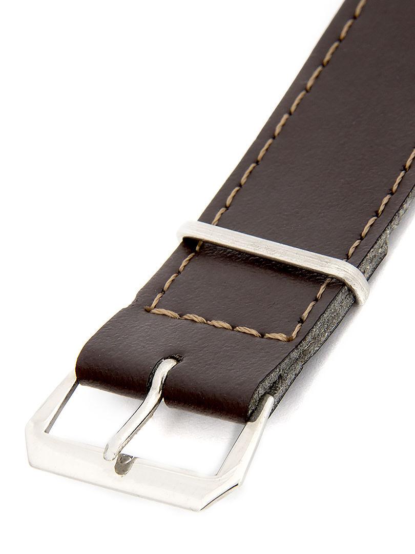 Unisex koženkový tmavě hnědý řemínek k hodinkám R4-DBR2