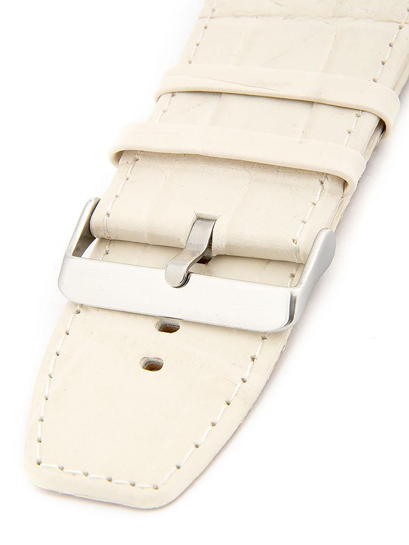 Unisex kožený béžový řemínek k hodinkám W-309-F
