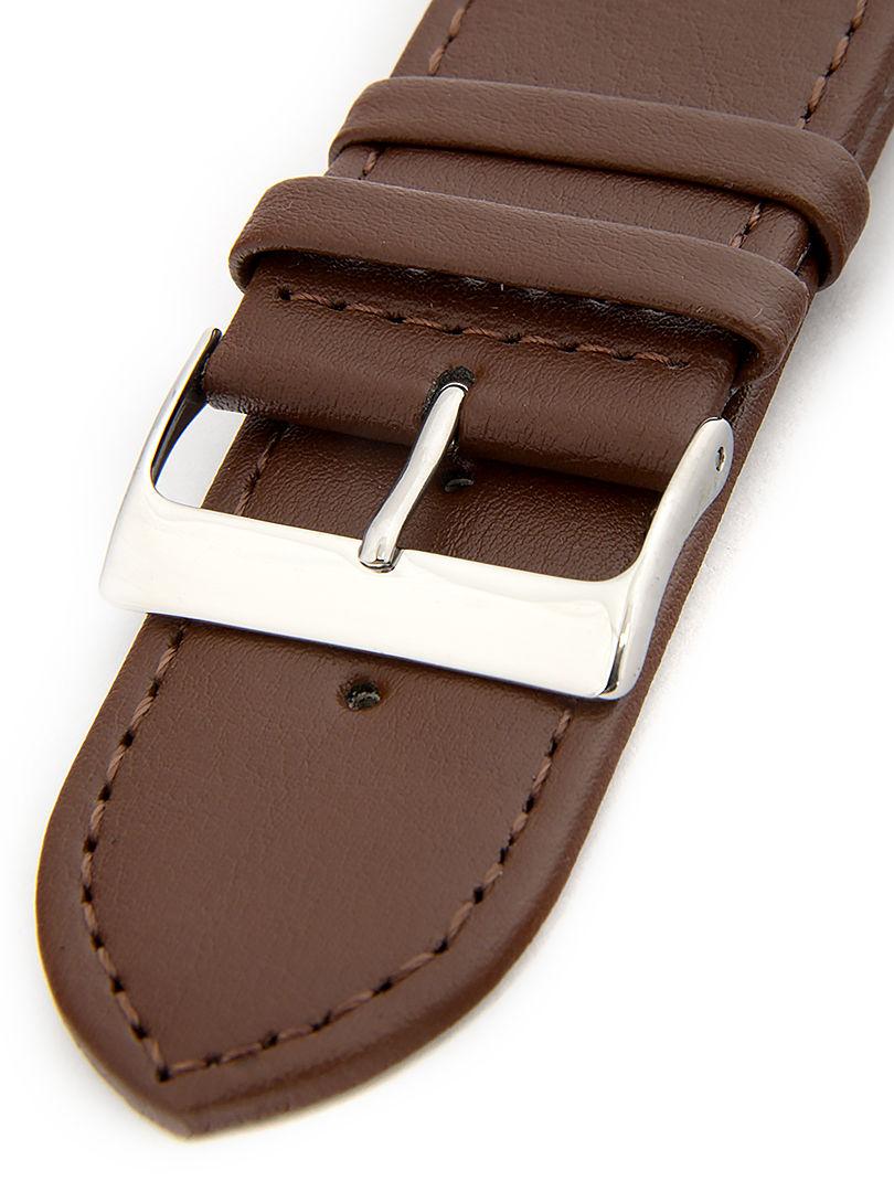 Unisex kožený hnědý řemínek k hodinkám R1-BR6