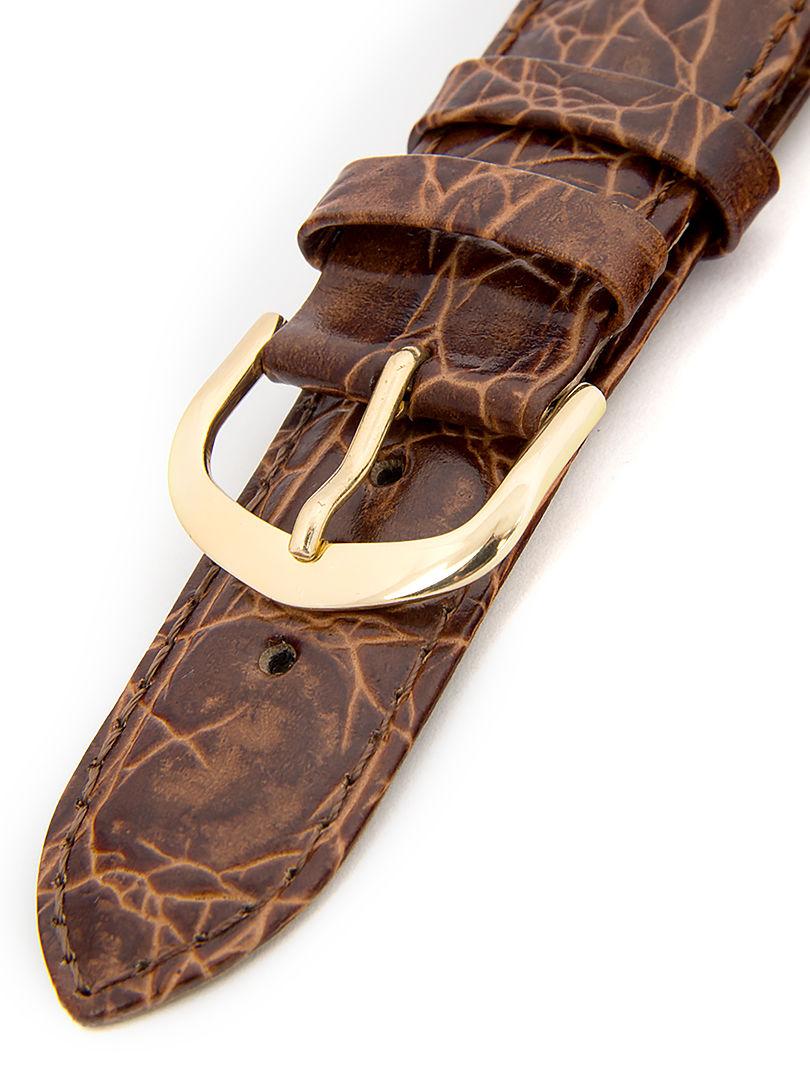 Unisex kožený hnědý řemínek k hodinkám R1-BRG1