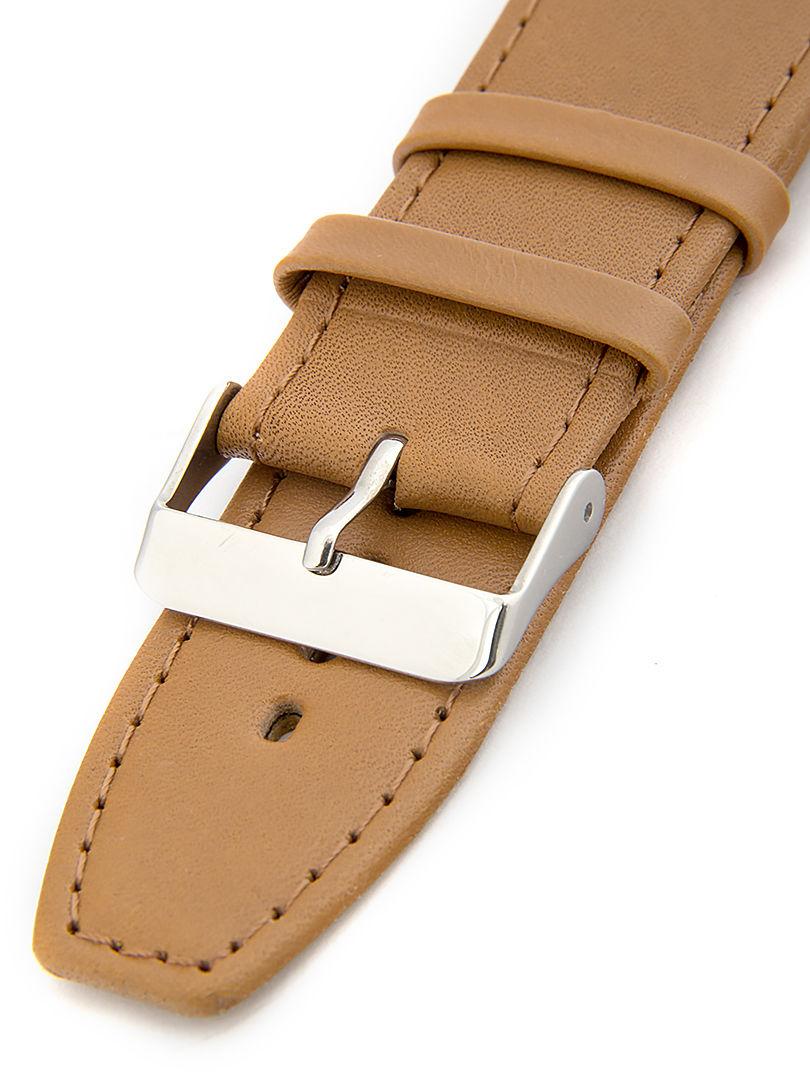 Unisex kožený hnědý řemínek k hodinkám W-309-G2 30mm