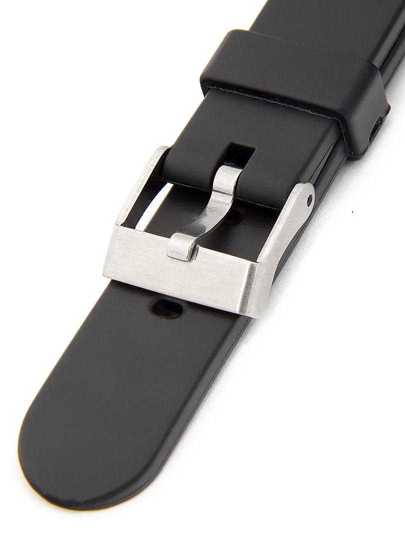 Unisex plastový černý řemínek k hodinkám P009