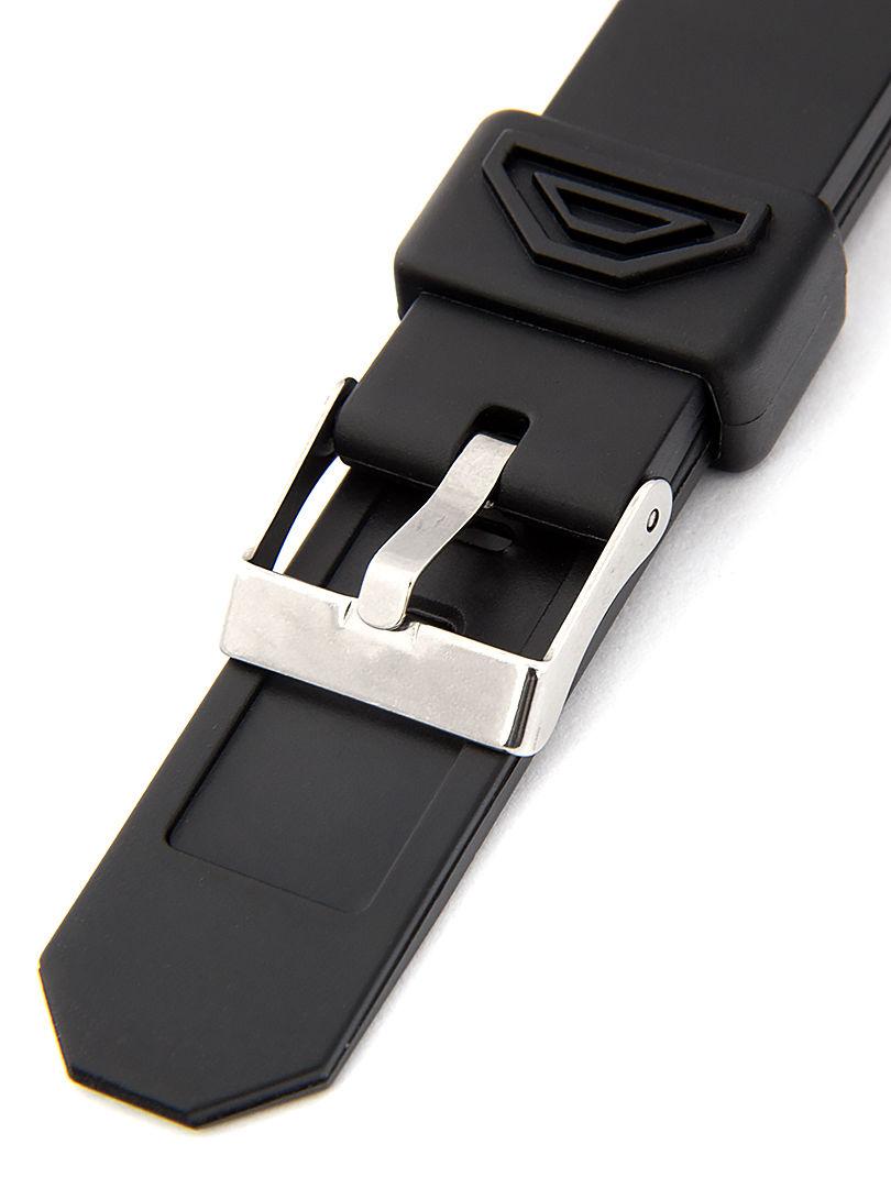 Unisex plastový černý řemínek k hodinkám P014