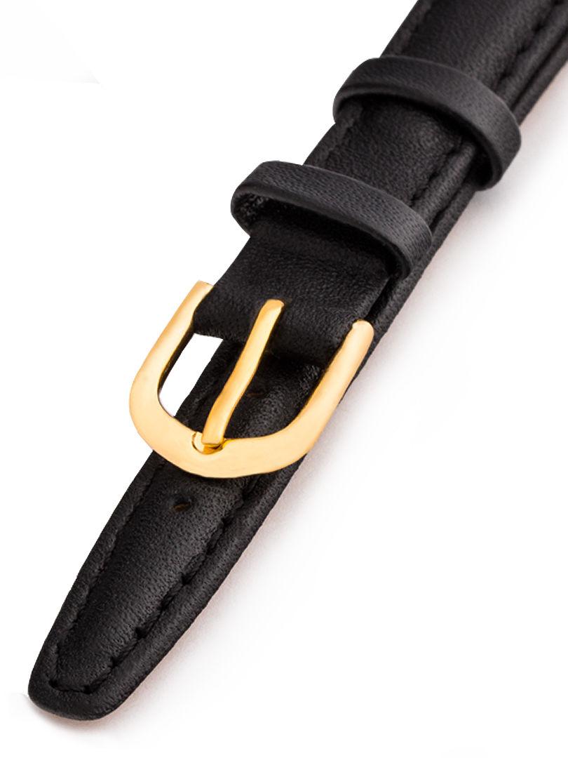 Dámský kožený černý řemínek k hodinkám K-5-A