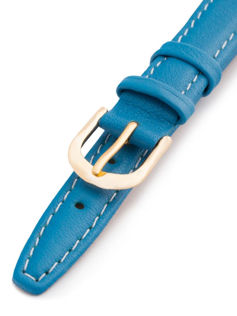 Dámský kožený modrý řemínek k hodinkám A-51-E