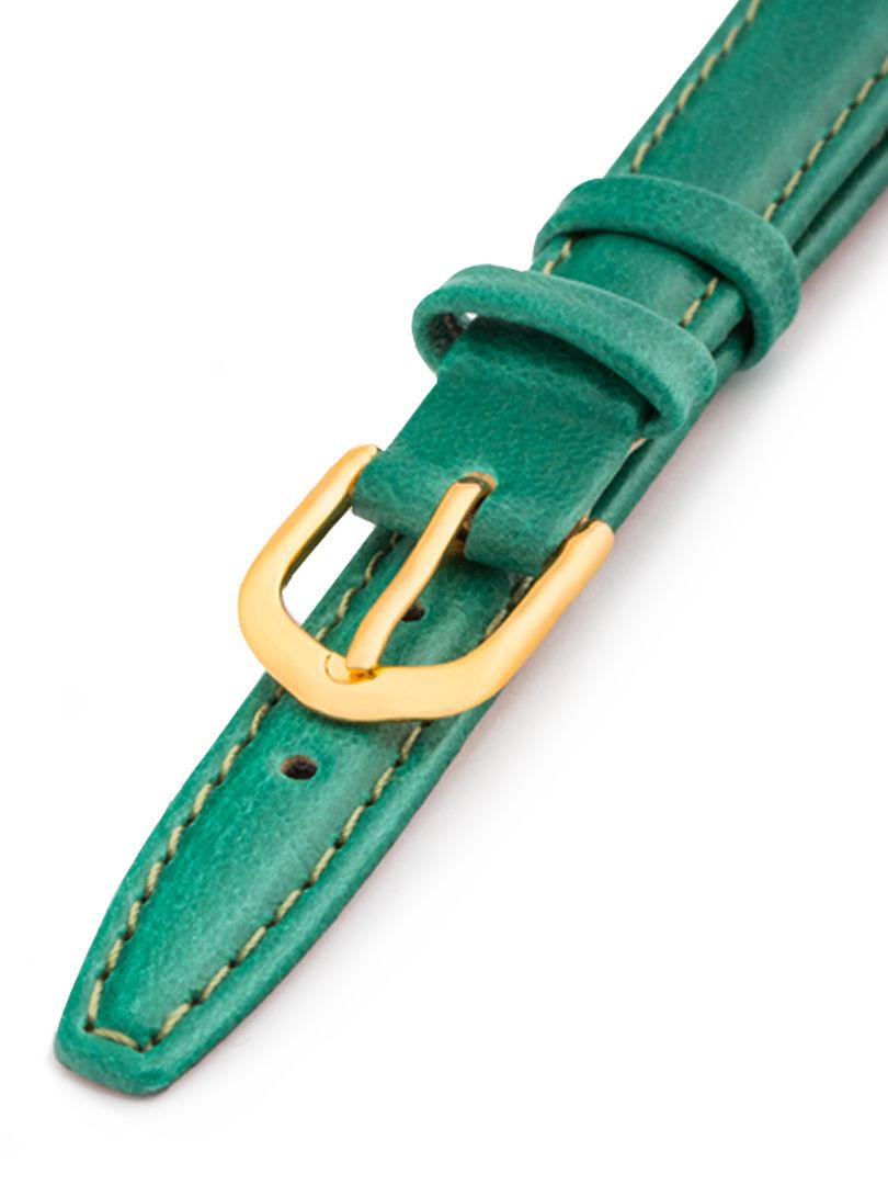 Dámský kožený tmavě zelený řemínek k hodinkám A-51-C