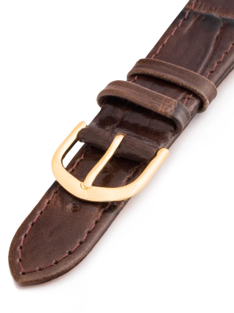 Unisex kožený hnědý řemínek k hodinkám 9311-B 22 mm