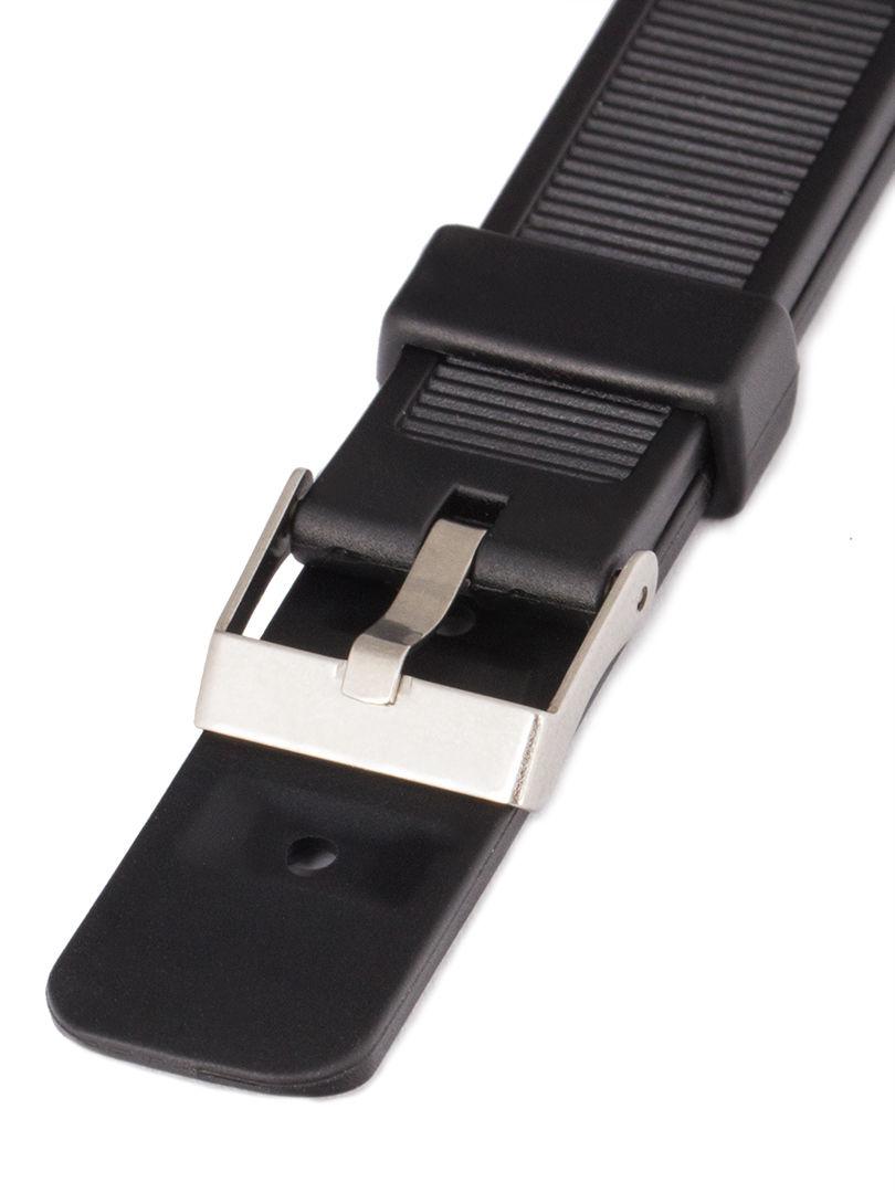 Unisex plastový černý řemínek k hodinkám P038