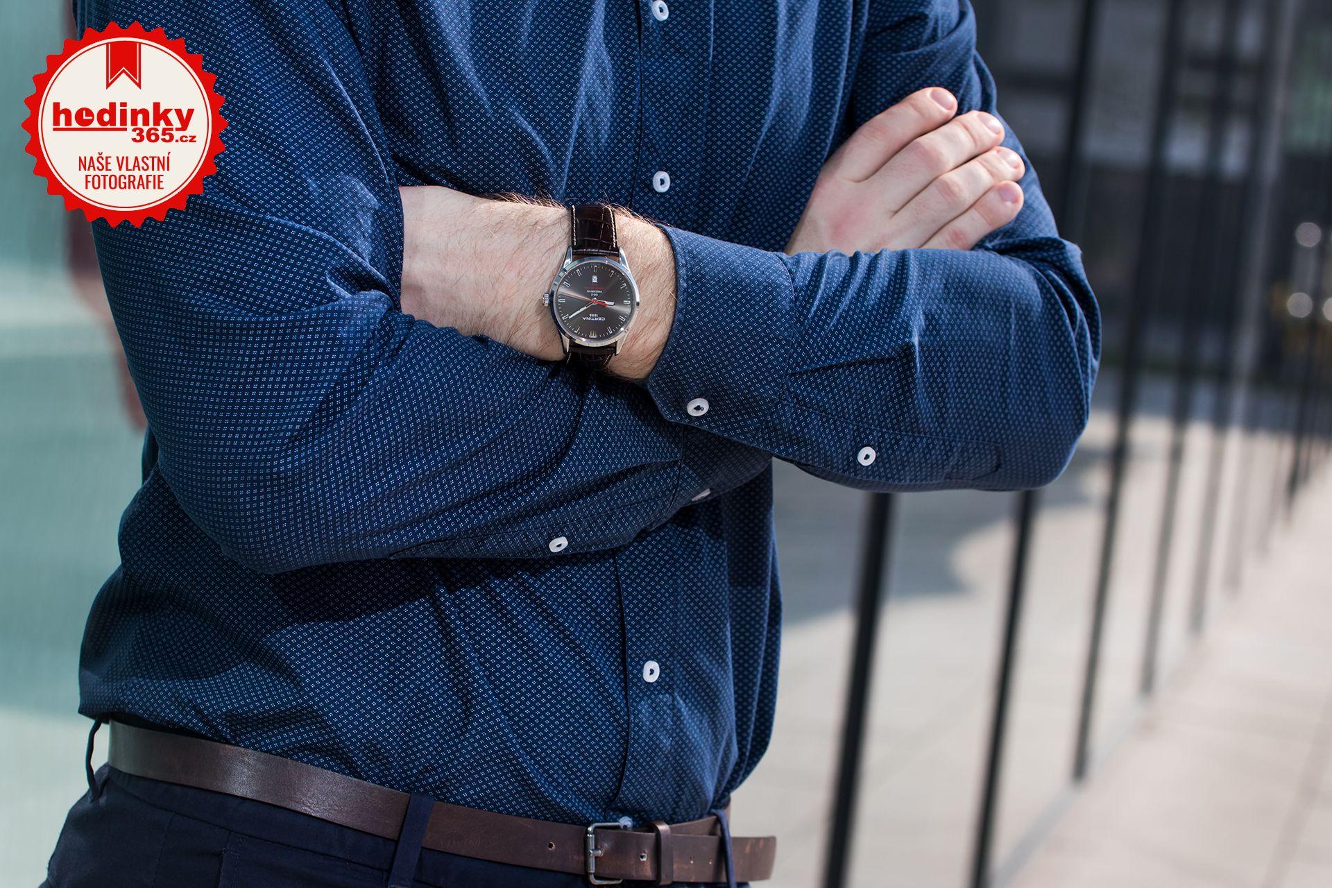 79f5f3417 Pánské hodinky - kožený řemínek, ocel pouzdro, safírové sklíčko. Veškeré  technické parametry naleznete níže