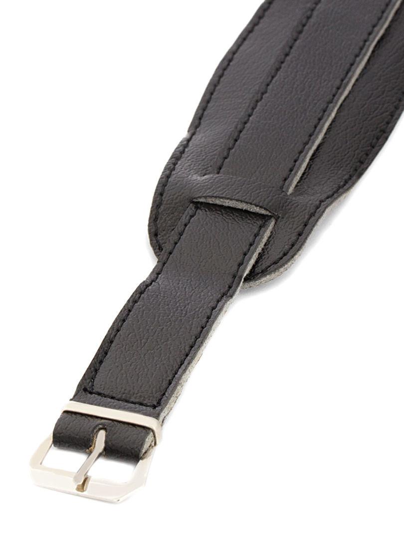 Unisex koženkový černý řemínek k hodinkám R4-BK2