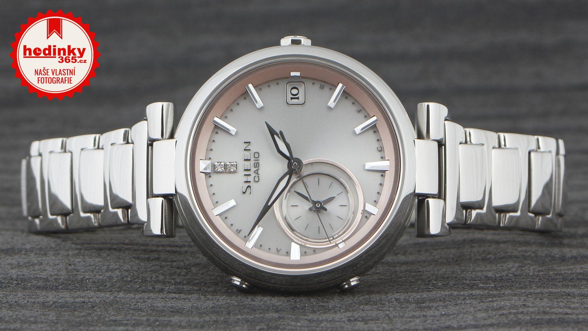 0560f3907f Casio Sheen SHB-100D-4AER. Dámské hodinky - ocelový řemínek