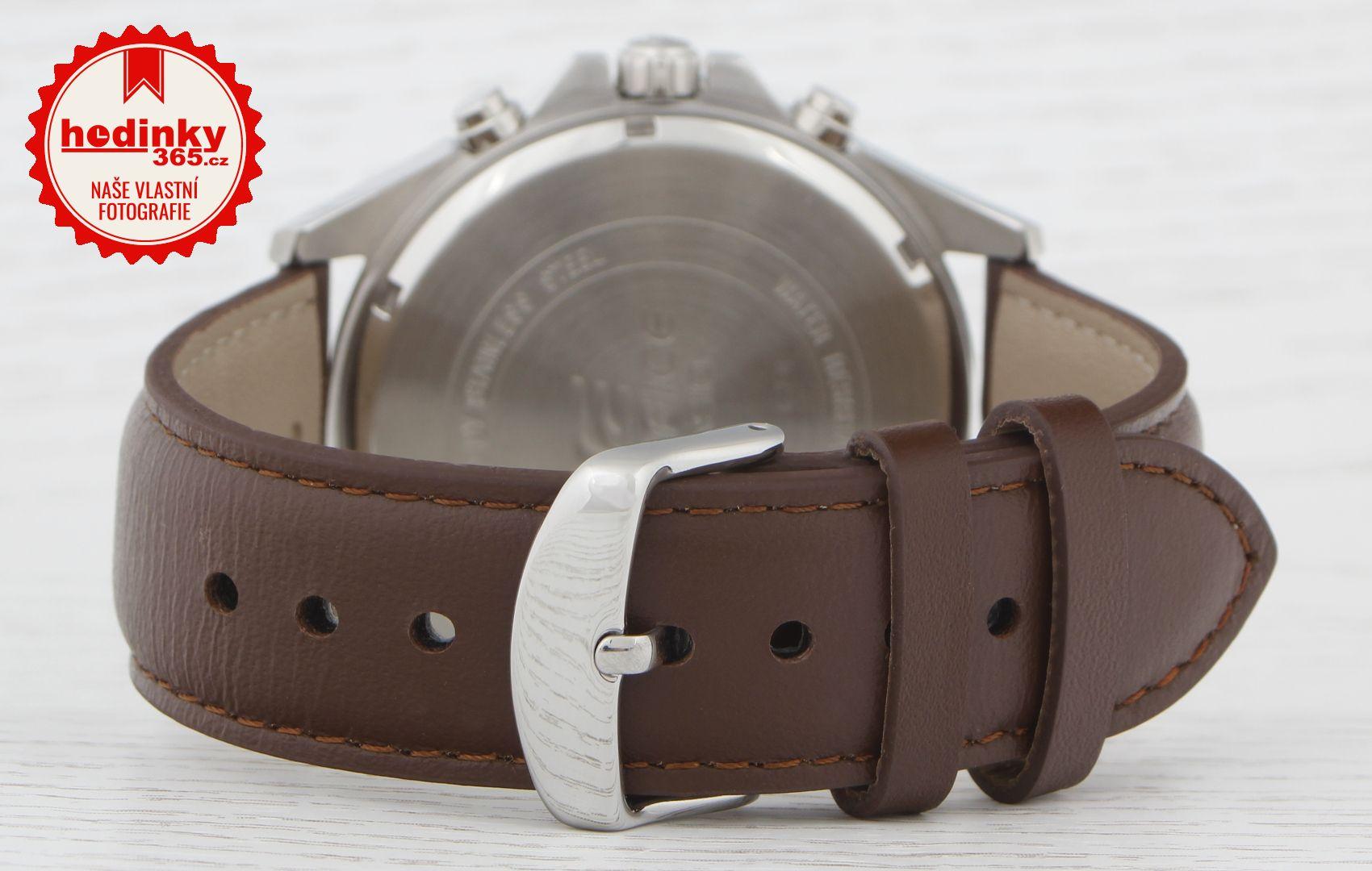 Casio Edifice EFV-500L-7AVUEF. Pánské hodinky - kožený řemínek 9999c6bca1