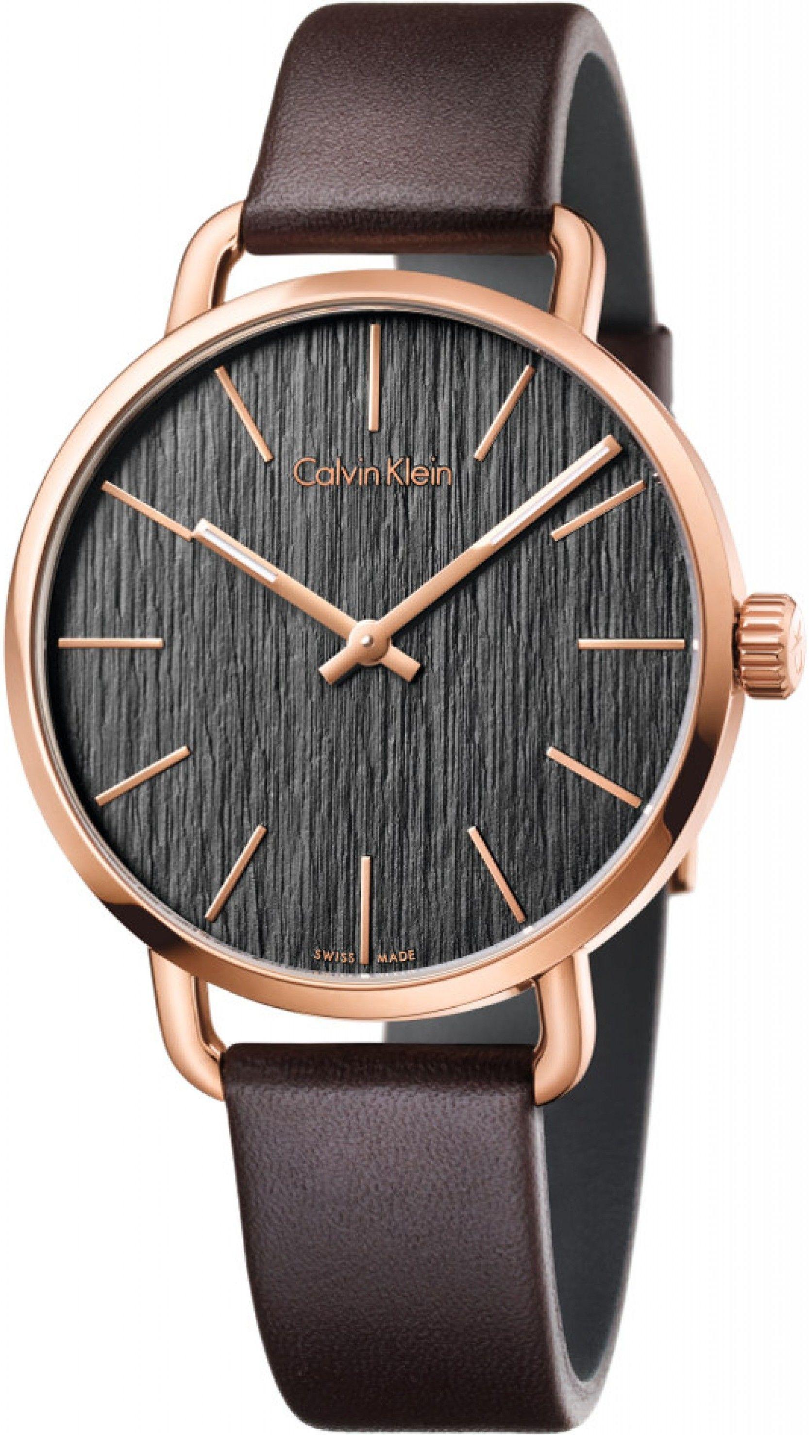 e0c2f518c Calvin Klein Even K7B216G3. Pánské hodinky - kožený řemínek, ocel pouzdro,  minerální sklíčko. Veškeré technické parametry naleznete níže