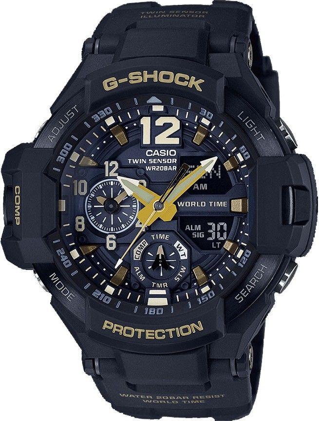 Casio G-Shock Gravitymaster GA-1100GB-1AER Black   Gold Special ... a9e673b87c