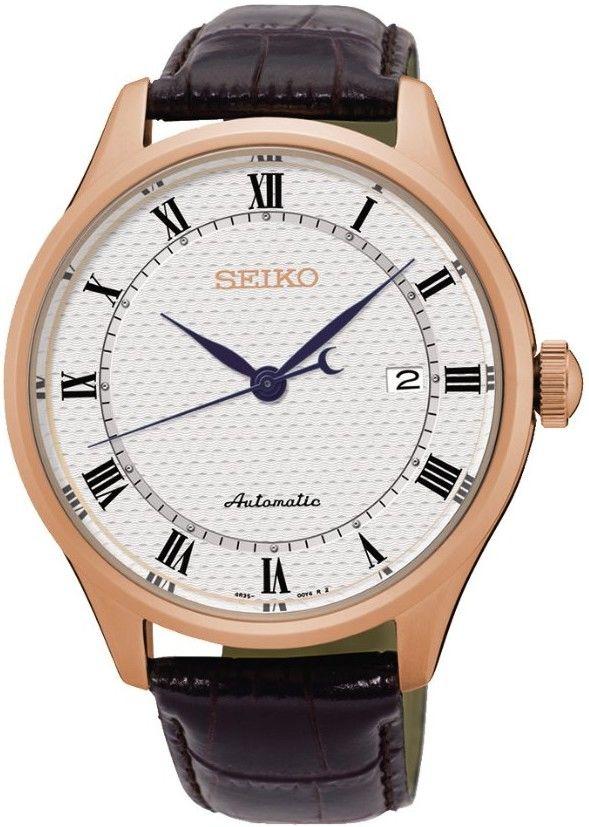 Seiko Automatic SRP772K1. Pánské hodinky - kožený řemínek f0d026dcb2