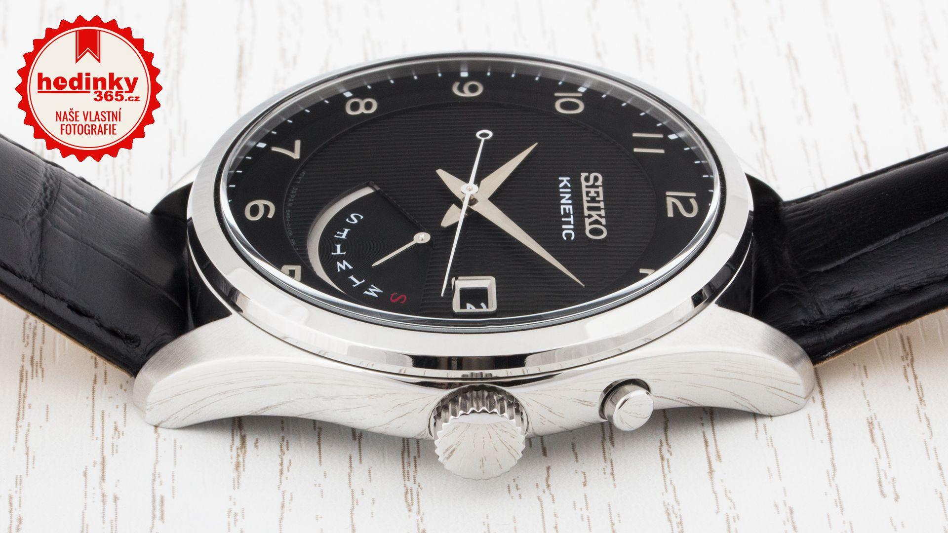 5d6045e2e Seiko Kinetic SRN051P1. Pánské hodinky - kožený řemínek, ocel pouzdro,  minerální sklíčko. Veškeré technické parametry naleznete níže