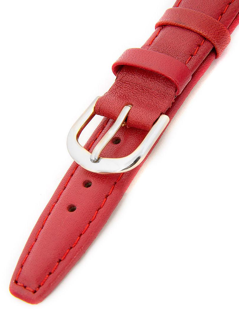 Dámský kožený červený řemínek k hodinkám A-51 18 mm