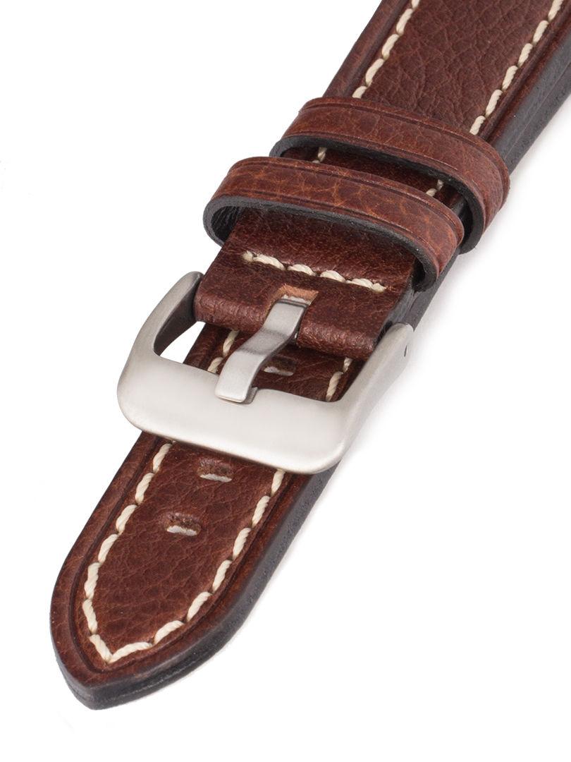 Unisex kožený hnědý Condor řemínek k hodinkám 683.02RS